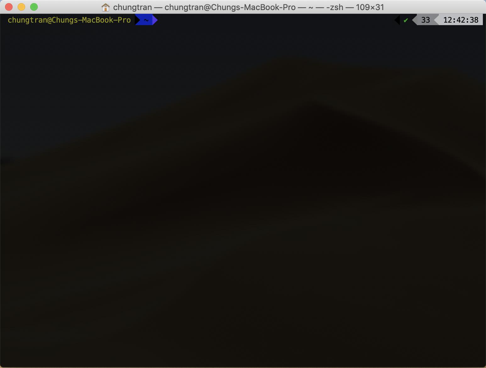 Thiết lập trên MacOS: Terminal