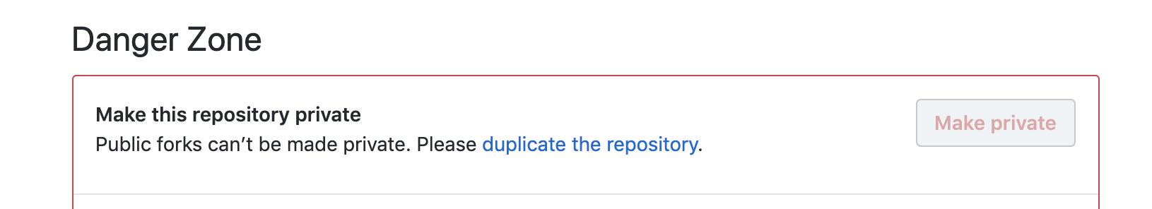 Fork 1 github  repository về biến nó thành private repository của riêng bạn